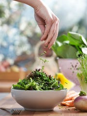 A tossed salad is a healthy start to a nutritious meal,