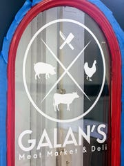 A new door waits to be installed at Galan's Meat Market