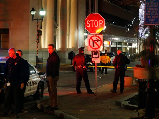 A man was stabbed in the neck on Market Street Wednesday