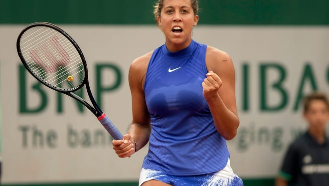 Madison Keys beat Ashleigh Barty 6-3, 6-2 in the first round at the French Open.