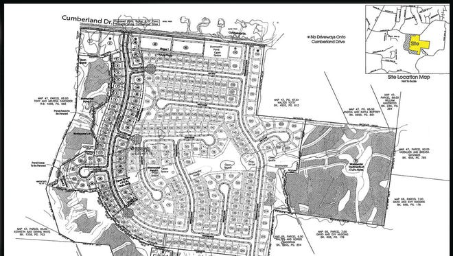 This preliminary master development plan was part of the PUD rezoning request approved by the Fairview City Commission in January.