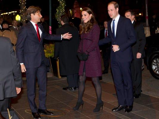 APTOPIX Royals US Visit
