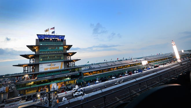 Th sun rises over the Pagoda hours before the 100th running of the Indianapolis 500 Sunday, May 29, 2016, afternoon at the Indianapolis Motor Speedway.