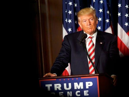 Donald Trump speaks in Philadelphia on Sept. 7, 2016.