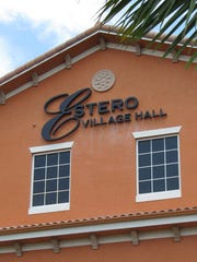 Estero Village Hall, where the Village Council meets.