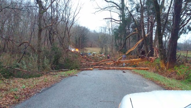The damage was in the area of Bethany Church Road and Jim Stanfill Loop.