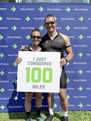 Dublin's Matt Briskey and his fiancee, Megan Dudte, rode in the 2019 Pelotonia charity bicycle tour. He said volunteering to help with the 2018 event helped him deal with grief after the death of his mother and motivated him to ride last year.