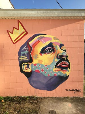 Mural of Dr. Martin Luther King Jr. by Nathan Verwey at 716 Princess St. in Wilmington.
