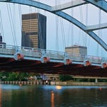 Frederick Douglas-Susan B. Anthony bridge night time