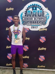 Novi Middle School grad Miles Brown ran a first-place