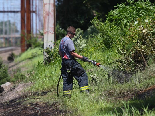 Firefighters put a out brush fire that broke Mill Park
