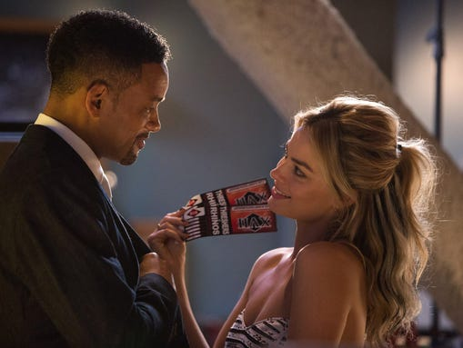 Will Smith plays a con man opposite Margot Robbie in