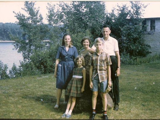 Margaret and her family in Iowa in 1966.