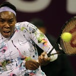 Venus Williams easily defeated Croatia's Petra Martic on the first day of the WTA Qatar Ladies Open in Doha, Qatar.