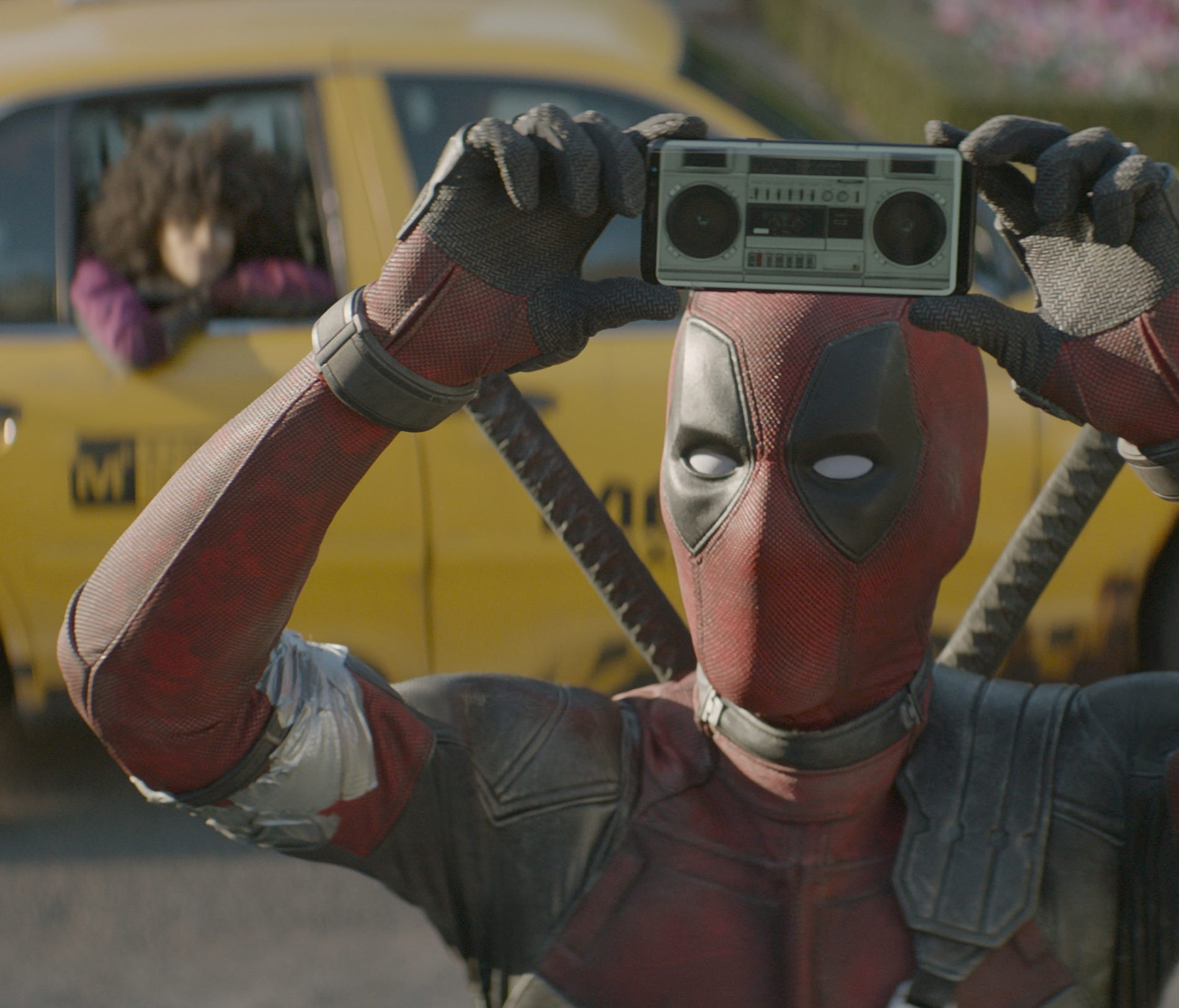 Deadpool (Ryan Reynolds) borrows a gag from