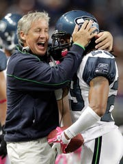 Seattle's Earl Thomas learned it's OK to hug your coach