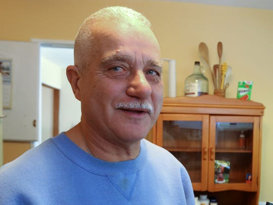 Richard Gaglione in his Congers home Wednesday. Bridges' veteran peer support program partnered with the Home Depot Foundation and state Sen. David Carlucci to do renovations at Gaglione's home.
