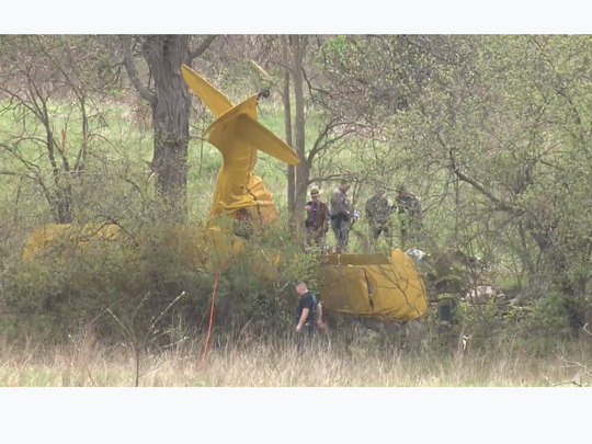 A small plane crashed in Orange County, killing the