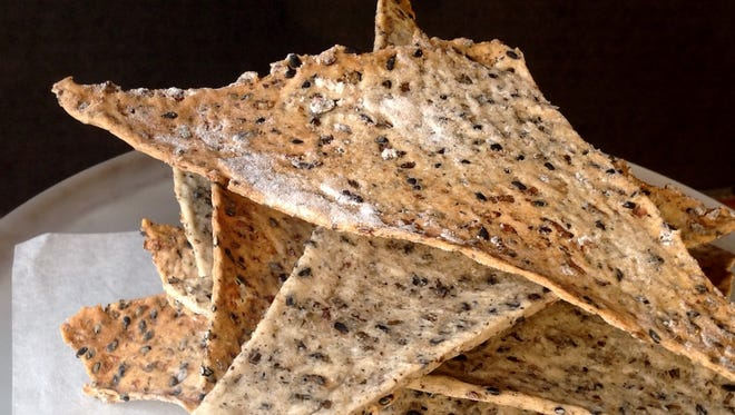 These crispy crackers are a novel way to use wild rice.