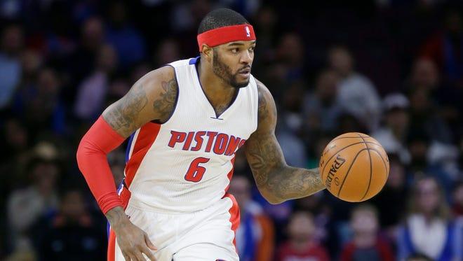 Detroit Pistons forward Josh Smith.