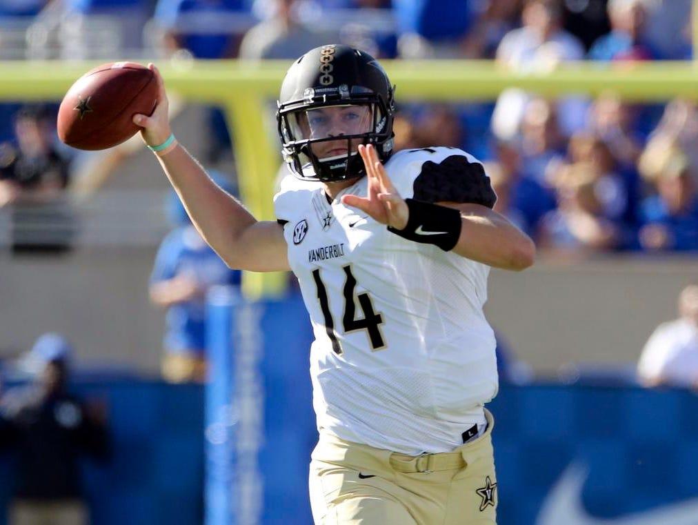 Vanderbilt starting quarterback Kyle Shurmur is entering his junior season.