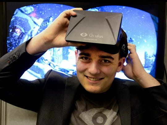 Palmer Luckey, 24, creator of VR google Oculus Rift,