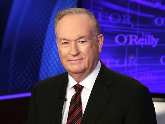 Fox News star Bill O'Reilly, who according to a New