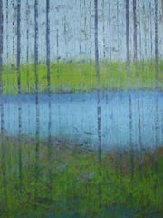 """Painting by Ginnie Cappaert, whose Cappaert Contemporary Gallery is a site on the """"Women Walking on Water"""" art crawl in Egg Harbor."""