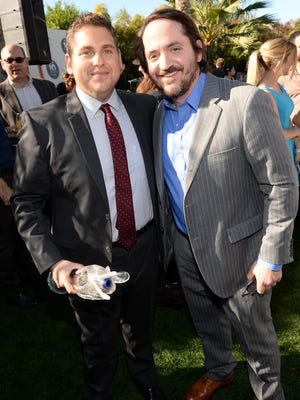 Jonah Hill, left, and director Ben Falcone attend Variety's Creative Impact Awards and 10 Directors to Watch brunch Sunday  at The 25th Annual Palm Springs International Film Festival.