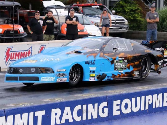 Flash Fiscus races at Summit Motorsports Park in Norwalk.