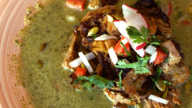 Chicken in Pipian Sauce.