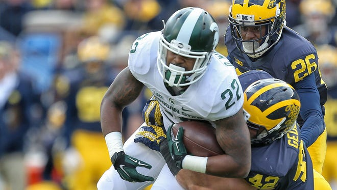 Michigan State Spartans running back Delton Williams (22).