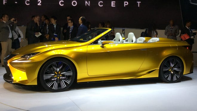 The Lexus LF-C2 concept car.