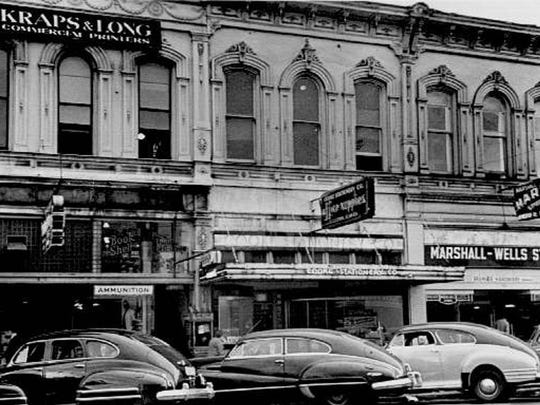 The Adolph Block Building on State Street in downtown Salem, seen here in an undated photo, was placed on the National Register of Historic Places in 1980.