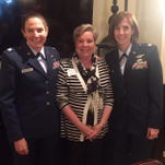 Lt. Col. Michelle Gillaspie, Becky Cooksey and Major Kari Mott were keynote speakers at the The Women's Philanthropy Network meeting.