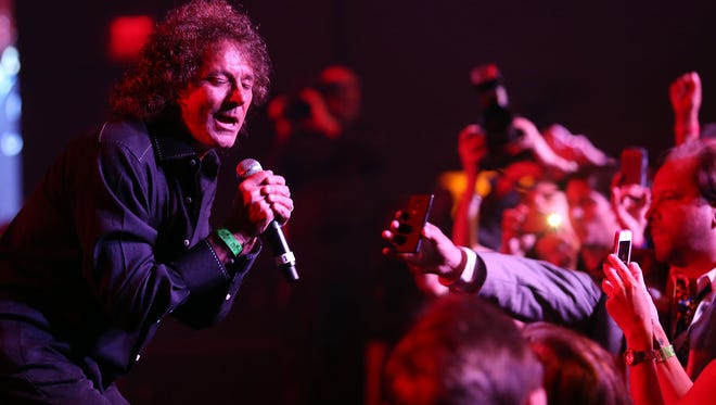 """Mickey Thomas, seen here, performs during the 2014 Patrick Warburton Golf Tournament jam session at the JW Marriott in Palm Desert, pursues outside passions in addition to his """"day job"""" with The Starship featuring Mickey Thomas"""