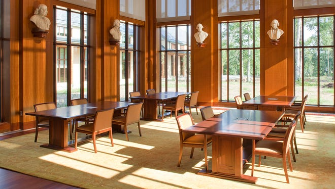 The reading room at the new Fred W. Smith National Library for the Study of George Washington at Mount Vernon.