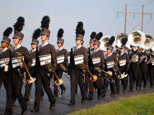Ryle Band marching 2015