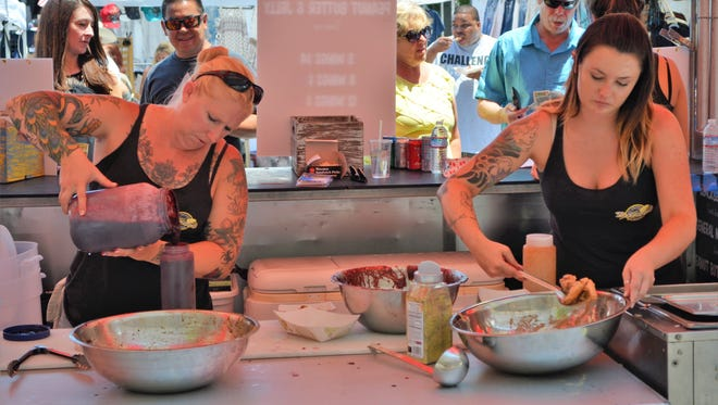 The Biggest Little Wing Fest cooked up over 20,000 pounds of chicken wings over three days July 2-4, 2016. Around 80,000 attendees enjoyed flavors from approximately 25 cookers while music from Jon Pardi and others filled the streets of downtown Reno.