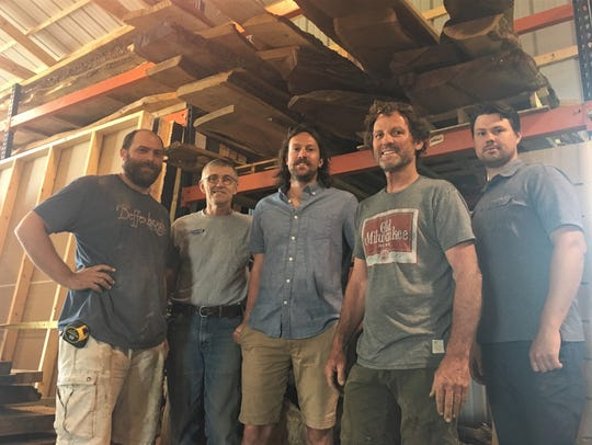 The Contour crew: From left, craftsman Tony Haack,