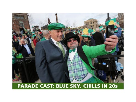 St. Patrick's Day Parade forecast