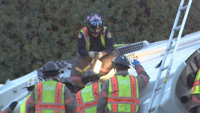 Chief says rescue of driver in overturned semi most difficul of his career