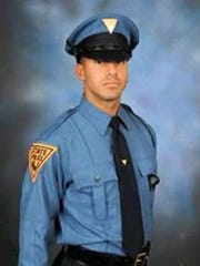 State Trooper Anthony Raspa was killed in a car crash while on duty.