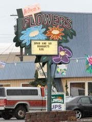 This March, 6, 2013, file photo shows Arlene's Flowers,
