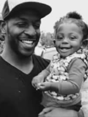 Donte Lamont Sowell, 27, Indianapolis, shown with family member.