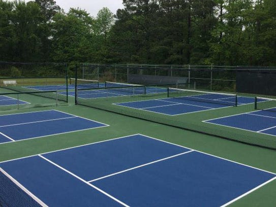 The eight new pickleball courts cost an estimated $35,000