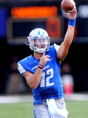 MTSU's Brent Stockstill (12) is attempting a comeback for MTSU's bowl game in Hawaii.