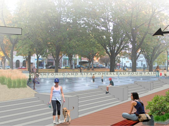 The new fountain planned for Burlington's City Hall