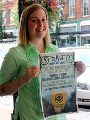 Jenn Rodgers of Salem Ale Works stopped by to promote