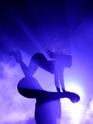 Beyonce performs at the MTV Video Music Awards at The Forum on Sunday in Inglewood, Calif.